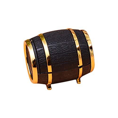 Recet Joyero pequeño en forma de barril de cerveza, anillo joyero, adecuado para regalos de cumpleaños