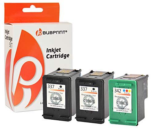 Bubprint 3 Druckerpatronen kompatibel für HP 337 HP 342 HP337 HP342 für Officejet 6300 6310 6315 Photosmart 2500 2570 2575 C4100 C4110 C4140 C4180