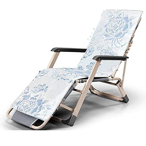 WGFGXQ Folding Patio Recliner,Zero Gravity Chair with Adjustable Headrest, Oversized Recliner Chair, Reclinable Folding Chair for Outdoors Bedroom, Padded Patio Chair-Seduce