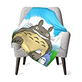 MAIMATIEKE Colorful Totoro and Snorlax Baby Blanket Lightweight Flannel Throw Blankets Bedding for Toddler Boys Girls Blanket 30x40 in