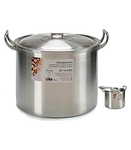 BigBuy Home Olla De Cocción Lenta Aluminio (15l) (30 Cm) (33 X 27,5 X 37 Cm) (37 X 27,5 X 33 Cm)