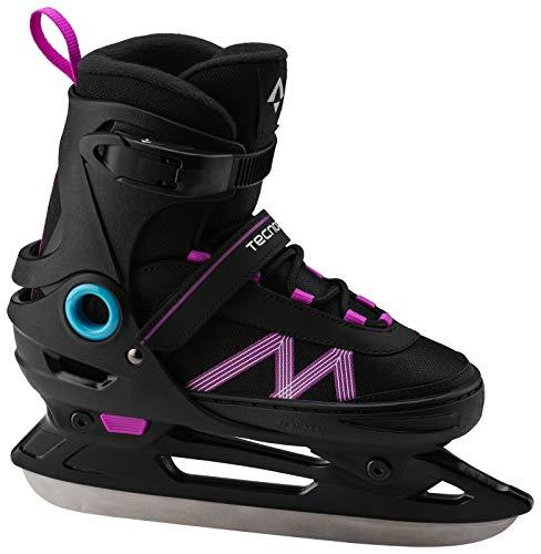 TECNOPRO Mädchen Complet Adjust 2.0 Eishockeyschuhe, Schwarz/Lila/Türkis, 37
