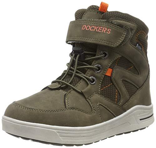 Dockers by Gerli Jungen Unisex Kinder 45RO702 Hohe Sneaker, Grün (Khaki 850), 33 EU