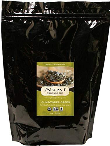 Numi Organic Tea Gunpowder Green, 16 Ounce Pouch, Loose Leaf Tea (Packaging May Vary)
