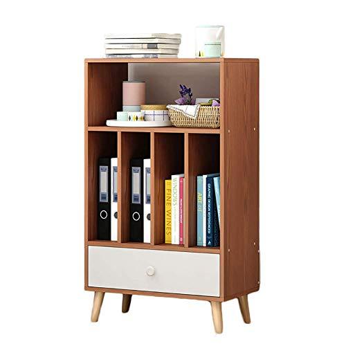 Shelves Oak Open shelf Bookshelf,Simple Floor-standing Multifunctional Furniture Storage cabinet Ample Space for storage Shelving unit-A 55x30x95cm(22x12x37inch),Size:55x30x95cm(22x12x37inch),Colour:A