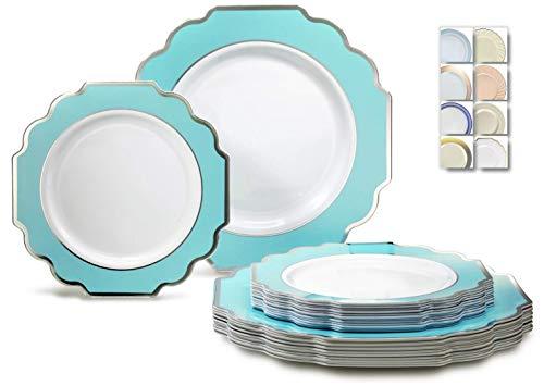 120+120/60+60-Anlässe 25,4 cm + 17,8 cm Allgemein I3. Imperial in Tiffany blue/silver