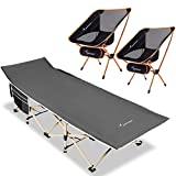 Sportneer Camping Chair and Portable Camping Cot for Camping, Hiking, Pinic, Beach, BBQ, Sunbathing
