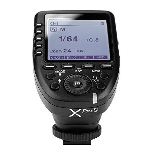 Godox Xpro-S TTL Blitzauslöser für Sony, Wireless Flash Trigger Fernauslöser für Sony-Kameras Sony a7II, a7, a99, ILCE-600L, A9, A7R, A7RII, DSC-RX-10
