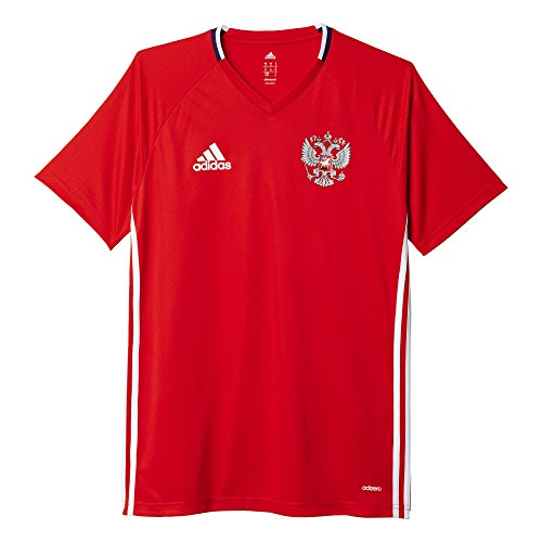 adidas Herren Russland Trainingstrikot Kurzarm Trikot, Red/White/Dark Blue, S
