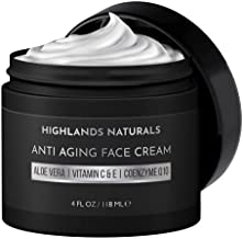 Anti Aging Face Cream for Men - Anti Wrinkle Face Moisturizer and Facial Lotion - Advanced Skin Care for Younger Looking Skin - Hydrates, Firms and Revitalizes - Natural & Organic, 4 oz, Scented