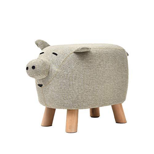 hsj LF- Taburete de sofá con tecnología para el hogar de tela de cerdo para niños, minimalista, creativo, dormitorio, sala de estar, comedor, cómodo
