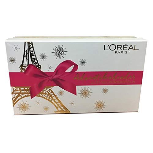 Beauty Adventskalender 2018 für Damen von Loreal -zum Selber basteln- Frauen Advent Kalender mit 24 Beauty Produkten - L`oreal Paris Kosmetik - Limitierte Auflage zu Weihnachten Advent + Parfumproben