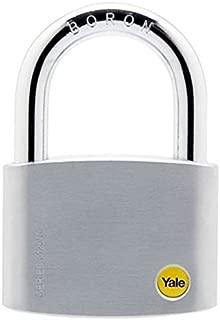 Yale Y120/70/141/1/Satin Chrome Brass Padlock C/W 3 Keys