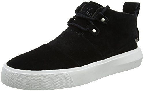 Supra Charles Mens Suede Casual Sneakers/Mid Tops-Black-12