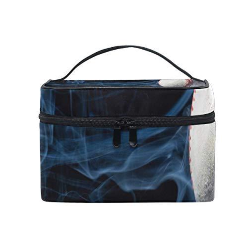 Sac de maquillage Beau sac à cosmétiques de baseball Grand sac de toilette portable pour les femmes/filles Voyage