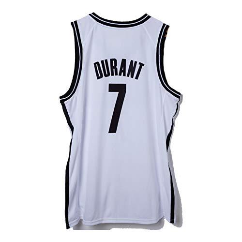 QJV Durant KD Training Game Jersey, Nets City Edition Sudadera para hombre, camiseta sin mangas, prensada en caliente (S-XXL), color blanco