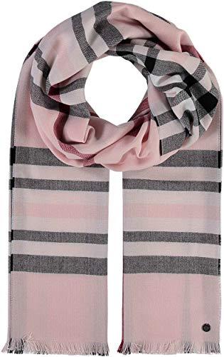 FRAAS Karierter Schal für Damen & Herren - XXL-Schal Made in Germany - Moderner Decken-Schal - Plaid mit Karo-Muster - Perfekt für Frühling und Sommer Rosa