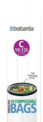 Brabantia kompostierbare Müllbeutel C / 10l - 12l (10 Stück pro Rolle)