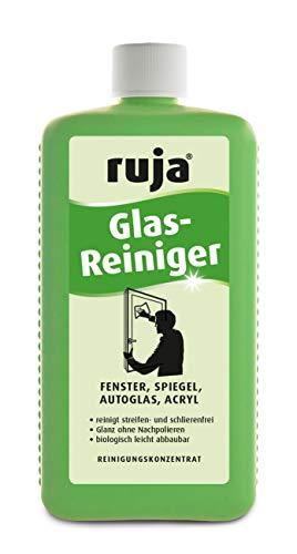 ruja Glasreiniger Konzentrat 1 Liter | streifenfreie Fenster bei Sonneneinstrahlung | auch für Glastisch, Vitrinen, Autoscheibe, Brille, Fliesen, Spiegel und mehr