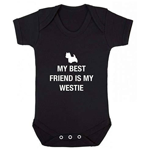 Flox Creative Gilet pour bébé Best Friend Westie - Noir - XS
