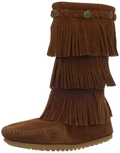 Minnetonka 3 Layer Fringe Boot (Toddler/Little Kid/Big Kid),Brown,13 M US Little Kid