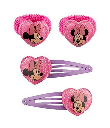 SIX 4er Set Haarklammern und Haargummis ©Disney Minnie Mouse (304-827)