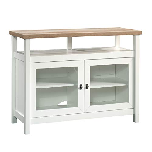 Sauder Cottage Road Entertainment Stand, For TV's up to 42', Soft White finish