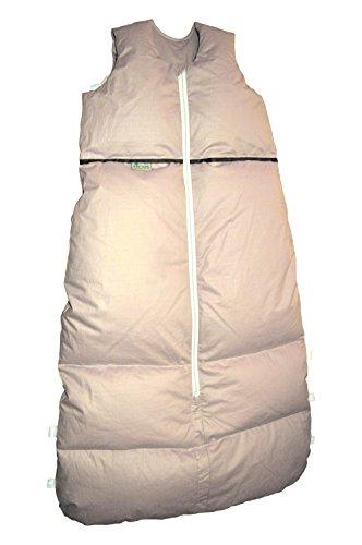 Premium Daunenschlafsack, längenverstellbar, Alterskl. ca 12-24 Monate, sand Pünktchen, 110 cm