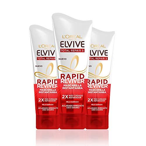 L'Oréal Paris Elvive Total Repair 5 Rapid Reviver, Mascarilla Instantánea Reparadora para Pelo Dañado - 180 ml