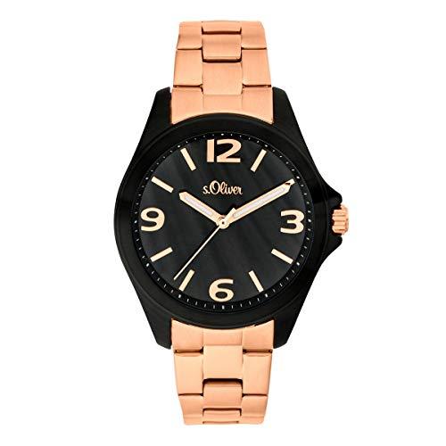 s.Oliver Damen-Armbanduhr Analog Quarz Edelstahl SO-3683-MQ