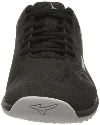 Mizuno TF-02, Zapatillas para Caminar Hombre, Ponche Negro/Fantasma/Lima, 41 EU