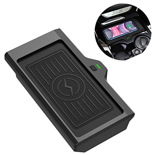 CarQiWireless Wireless Phone Charger Fast Charging for BMW X3 2018 2019 2020 BMW X4 2019 2020 Center Console 3 Coils Wireless Charging Pad Mat for BMW X3 X4 Accessory Compatible All QI Enabled Phone