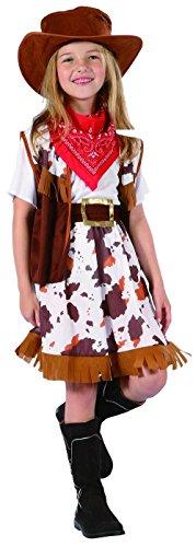 Vegaoo - Cowgirl-Verkleidung für Mädchen - 134/140 (10-12 Jahre)