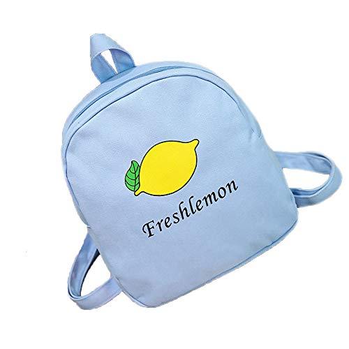 VHVCX Rucksack Womenfashion Lovers Fruit Mango Rucksack Mädchen Schulranzen Umhängetasche Segeltuch-Rucksack, A