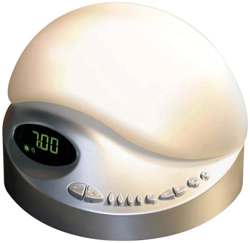 BioBrite Sunrise Clock Radio, Platinum