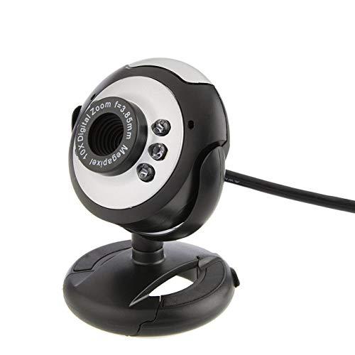 Ashley GAO Cámara web digital HD cámara de vídeo práctica cámara web con micrófono Clip-On ordenador PC portátil Webcam