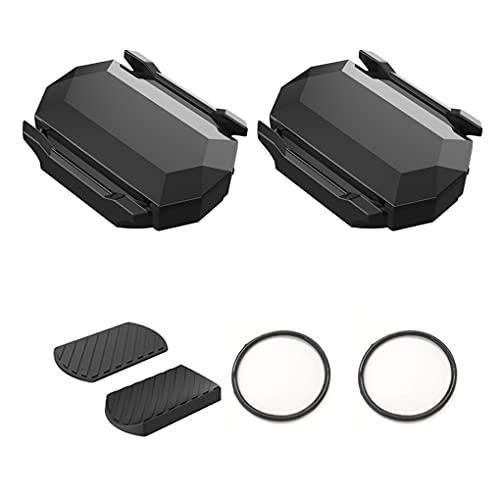 QINCHUN 2 unidsBicycle Sensor de velocidad inalámbrico de cadencia impermeable Bluetooth 4.0/ANT+, sensor RPM para sistemas Apple y Android