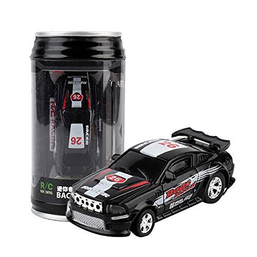FRIDG RC Car, Mini Radio Remote Control Micro RC Racing Car with Road Blocks Adult Kids Gift for Kids Black