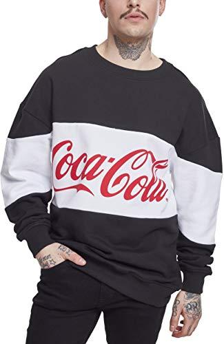 MERCHCODE Herren Coca Cola Stripe Oversize Crewneck, Black, S