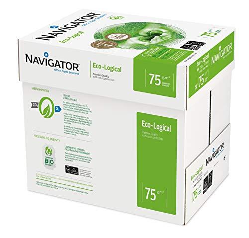 Navigator Eco-Logical - Papel de impresión 2500 hojas (A4, 5 x 500 hojas, 75 g/m2)