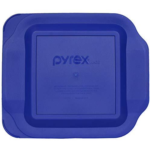 Pyrex 222-PC 2 Quart Dark Blue 8' x 8' Baking Dish Lid - Will NOT Fit Easy Grab Baking Dish
