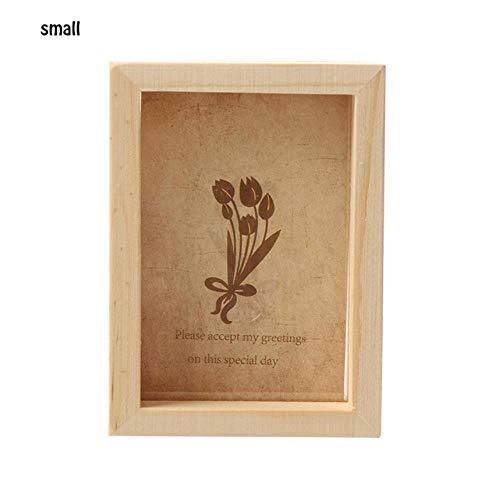 1 ST Vintage Multi Decoratieve fotolijst Online Home Decor Art Houten Bruiloft Mini Foto's Frames DIY Familie Home Decor Eén maat Klein