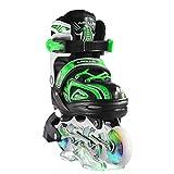 Apollo Super Blades X PRO, Misura S, M, L, Pattini Inline-Skate LED, Rollerblade per Bambi...