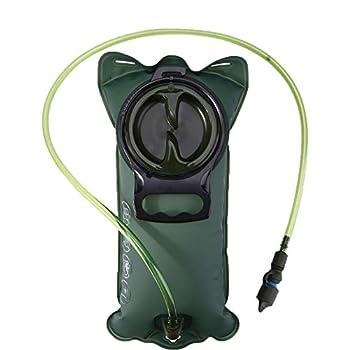 3L Poche Hydratation Portable, Poche hydratation Portable Eau Portable Sac à Valve autobloquante pour la randonnée Sportive Camping Escalade randonnée (Bleu Noir)