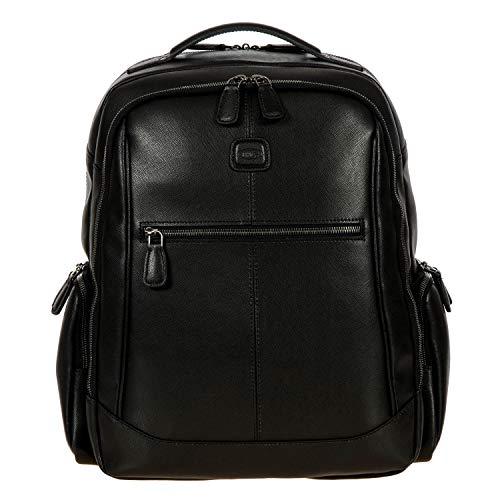 Laptoprucksack der Kollektion Varese von BRIC´s aus Leder, Einheitsgröße.Schwarz