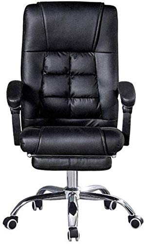 Swivel Stuhl- Computer Stuhl Haushalt kann Lifting Ergonomische Rückenlehne Bürostuhl Moderner einfacher E-Sport Stuhl Spiel Stuhl (Color : with Footrest)