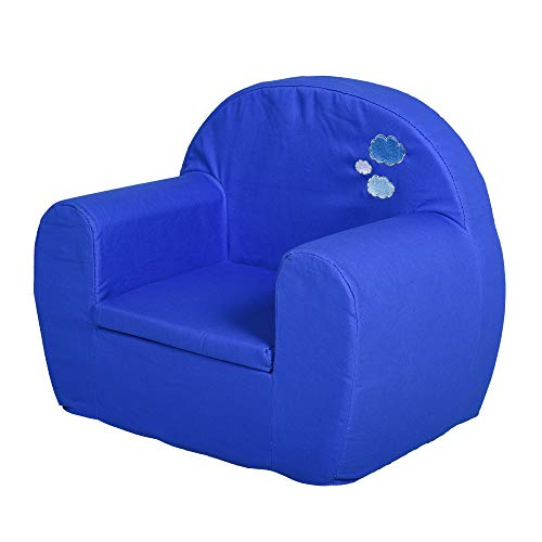 HOMCOM Kids Children Armchair Mini Sofa High Back Bedroom Playroom Furniture Blue for 10 to 36 Months