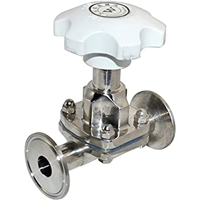 """Fincos 19MM 3/4"""" Sanitary Fitting Diaphragm Valve Clamp Type Stainless Steel SS SUS 316 by Fincos"""