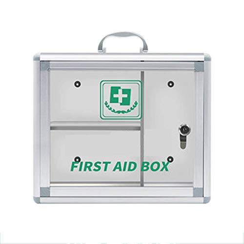 ZCG Caja de primeros auxilios para la familia con puerta de cristal transparente, para medicamentos de emergencia, ayuda a ahorrar espacio en tu hogar, empresa o fábrica (tamaño mediano)