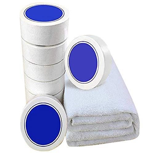 Wiederverwendbare komprimierte Handtücher, Tabletten, Baumwolle, Weiß, 12 Stück, Reine Baumwolle, 11.8